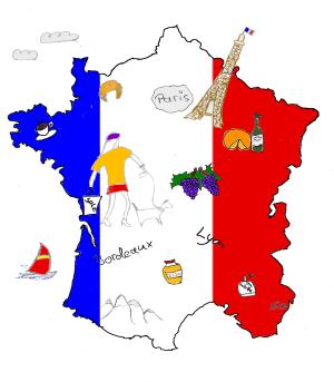 Französische küche comic  Französisch